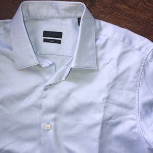 Z Zegna Men's Dress Shirt Sz 16 Slim Fit